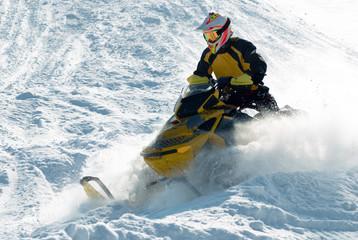Snowmobile racing.