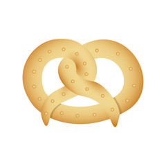 realistic picture pretzel baked product food icon vector illustration