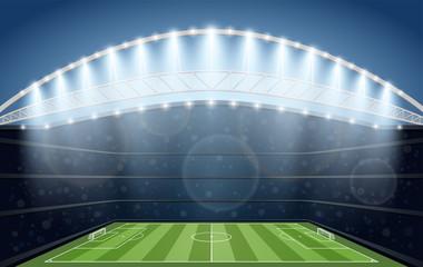 Soccer Stadium with spot light. Football Arena.