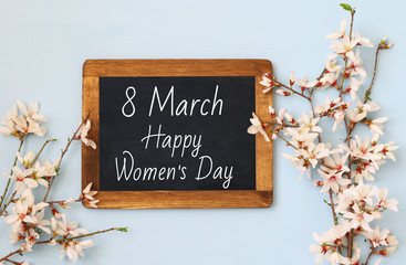 International women day concept. Top view image