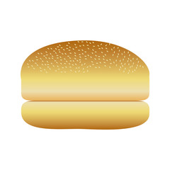 realistic picture bread hamburger icon food vector illustration