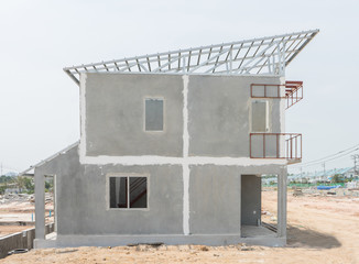 Building structure made with prefabrication system