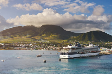 Port in caribbean island St Kitts