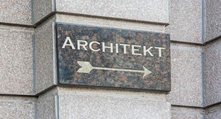 Schild 204 - Architekt