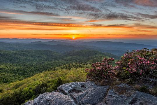 Scenic sunrise, linville Gorge, North Carolina
