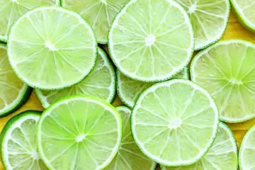 Fresh lime slices background