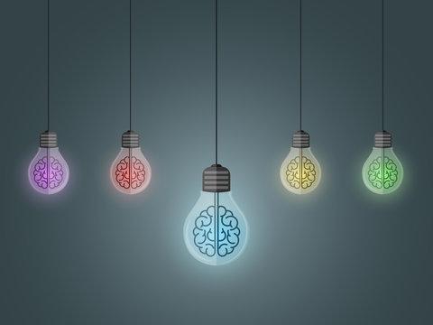 lightbulbs hang