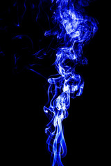 Fototapete - abstract white smoke on black background, smoke background, blue smoke background, blue ink