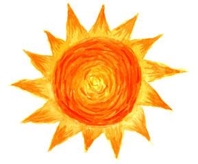 Sun in watercolor