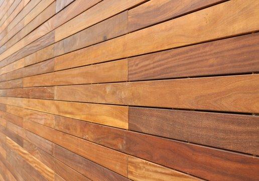 Horizontally hung wood background