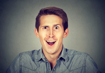 portrait of a surprised man