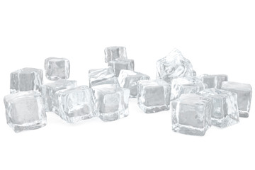 Heap of ice cubes. background of white ice cubes 3d rendering