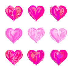 The drawn  heart  for Valentine's Day or weddings