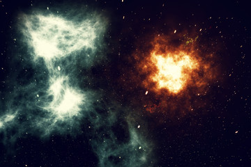 Universe filled with stars, nebula and galaxy, space dust in the universe, beautiful background with stars, 3d rendering