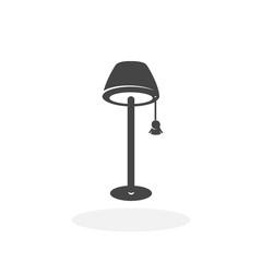 Floor lamp Icon. Vector logo on white background
