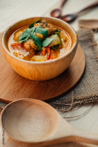 Vintage style thai traditional food style spicy muslim for Antique thai cuisine