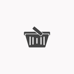 Shoping basket icon illustration isolated vector sign symbol