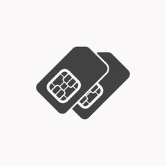 Sim card icon illustration isolated vector sign symbol