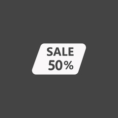 Sale label icon illustration isolated vector sign symbol