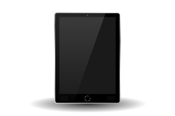 Silver modern tablet PC isolated. Vector illustration
