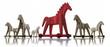 trojanische pferde auf weiß 2