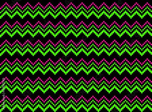 Quot Classic Neon Colors Geometric Pixel Chevron Seamless