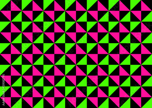 Classic Neon Colors Geometric Pinwheel Seamless Pattern Fluorescent