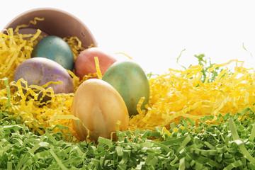 golden highligted easter eggs