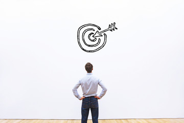 business target or goal concept, aim