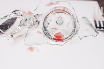 Glassware on a light background
