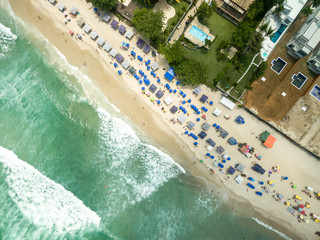Top View of Maresias Beach, Sao Paulo, Brazil