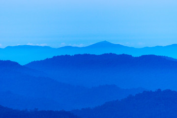 Beautiful layers of the mountain} Thailand