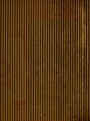 Golden corrugated metal - background / pattern