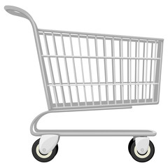 Vector illustration of an empty shopping cart.
