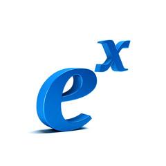 Natural Exponential Function, Math /Symbol, 3D Rendering Illustration