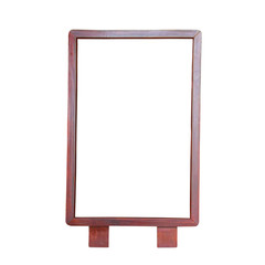 Wood frame isolated on white. This has clipping path.
