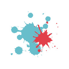 Colored splashes in abstract shape design vector illustration