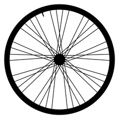 Bike wheel - vector illustration on white background