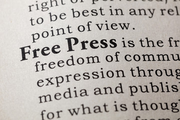 definition of free press