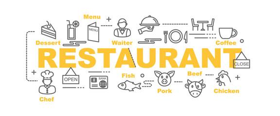 restaurant vector banner