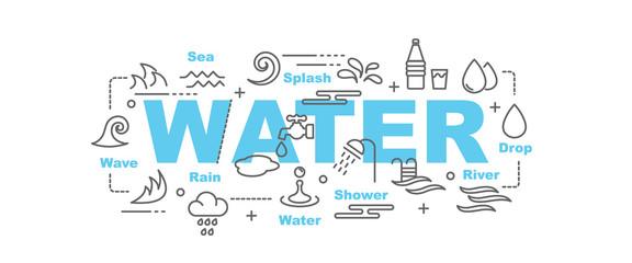 water vector banner