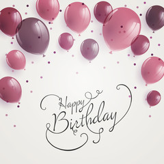 Vector Illustration of a Happy Birthday Greeting Card Design