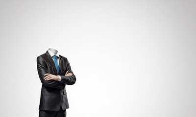 Businessman without head