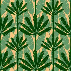 Banana Tree Seamless Pattern