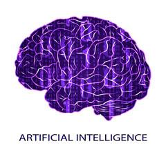 Artificial intellegence VECTOR symbol