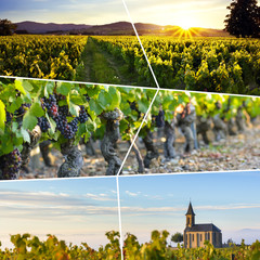 Beaujolais rectangular travel photo collage