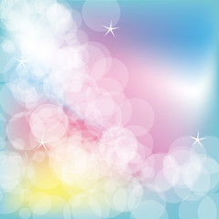 colorful glowing bubbles background design vector illustration