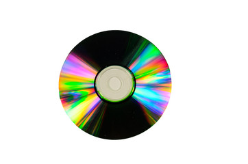 Cd disk isolated on white