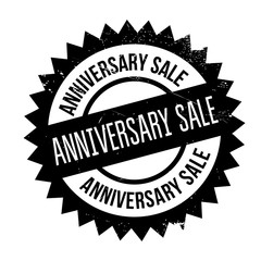Anniversary Sale rubber stamp. Grunge design with dust scratches. Effects can be easily removed for a clean, crisp look. Color is easily changed.