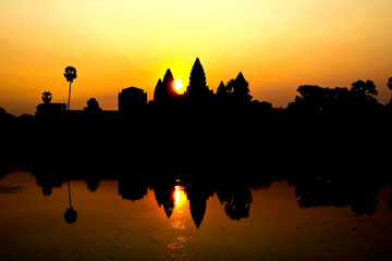Sunrise at Ankor Wat, Siem Reap, Cambodia